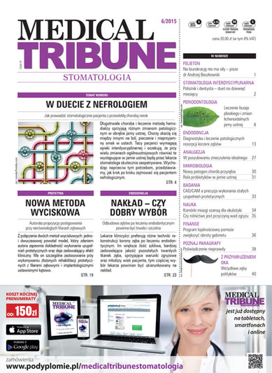 Cover - Medical Tribune: Stomatologia